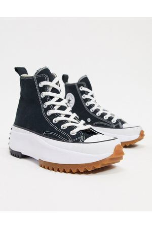 Converse Run Star Hike Hi canvas platform sneakers in