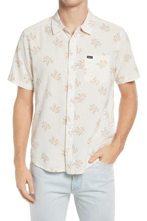 RVCA Men's Prairie Floral Regular Fit Short Sleeve Button-Up Shirt
