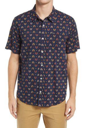 RVCA Men's La Fleur Regular Fit Short Sleeve Button-Up Shirt