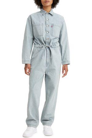 Levi's Women's Roomy Long Sleeve Denim Jumpsuit