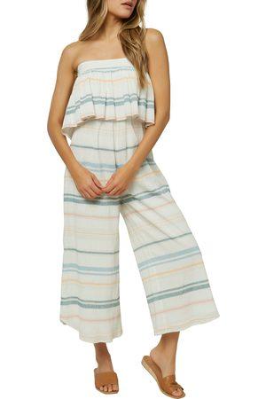 O'Neill Women's Kenna Stripe Strapless Cotton Gauze Jumpsuit