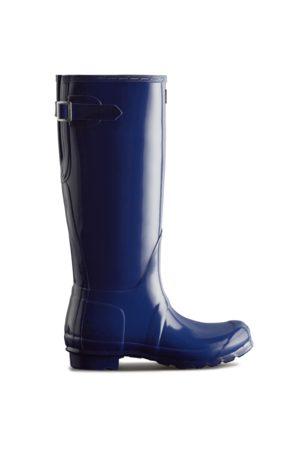 Hunter Women's Original Tall Back Adjustable Gloss Rain Boots