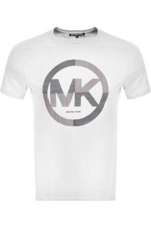 Michael Kors Short Sleeve Stripe Logo T Shirt Whit