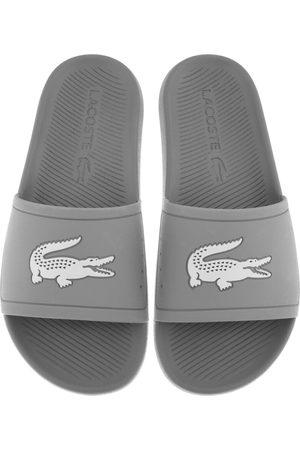 Lacoste Croco Sliders Grey