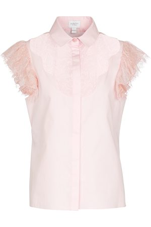 GIAMBATTISTA VALLI Ruffled short-sleeved cotton shirt
