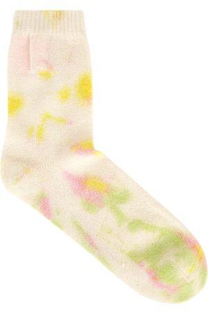 CRUSH CASHMERE Tie-dye cashmere socks