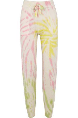 CRUSH CASHMERE Faro tie-dyed cashmere sweatpants