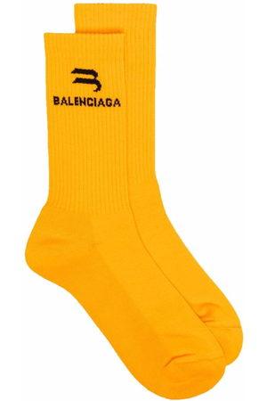 Balenciaga Men Socks - Logo-print socks