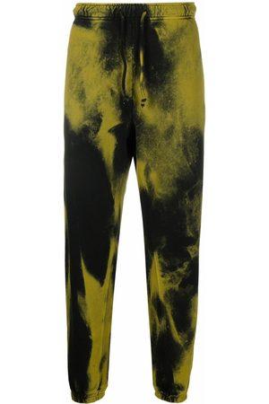 Diesel Men Sweatpants - Overdyed cotton sweatpants