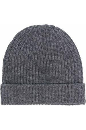 Boglioli Men Beanies - Ribbed-knit beanie - Grey