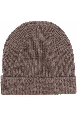 Boglioli Men Beanies - Ribbed-knit beanie