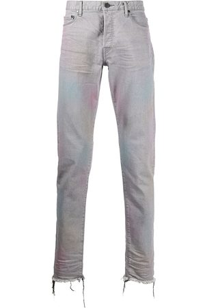 JOHN ELLIOTT The Cast 2 mid-rise distressed straight-leg jeans - Grey