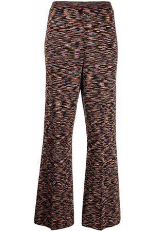 M Missoni Women Leggings - Marl-knit flared trousers