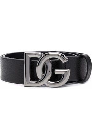 Dolce & Gabbana Logo-lettering leather belt