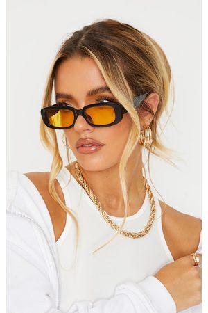 PRETTYLITTLETHING Chunky Colour Lens Square Frame Sunglasses