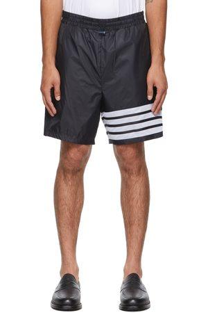 Thom Browne Men Shorts - Navy Ripstop 4-Bar Shorts
