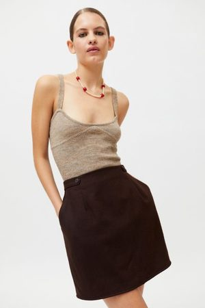 Urban Recycled Solid A-Line Mini Skirt