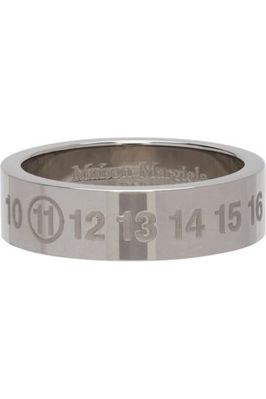 Maison Margiela Men Rings - Silver Polished Numbers Ring