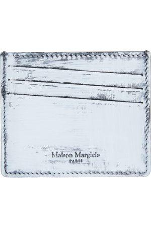 Maison Margiela Men Wallets - Black & White Handpainted Card Holder