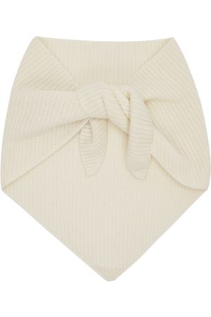 Solid Homme White Muffler Scarf