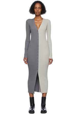 Staud Women Casual Dresses - Grey & Taupe Shoko Sweater Dress