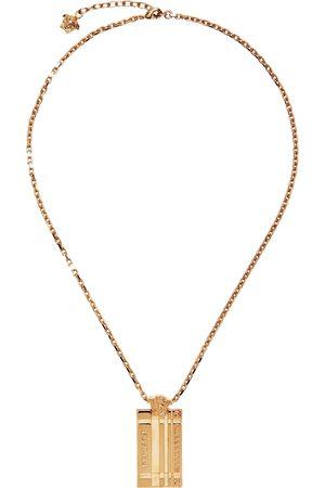 Versace Gold Tartan Necklace