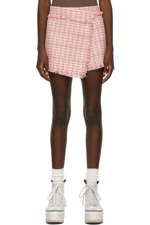 MSGM Pink Tweed Skort