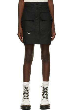 MSGM Black Cargo Miniskirt