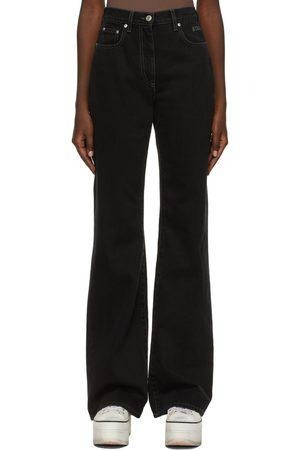 MSGM Black Wide-Leg Jeans