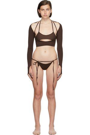 Hyein Seo SSENSE Exclusive Macrame Long Sleeve Bikini