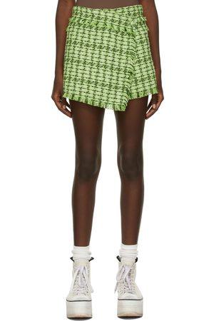 MSGM Green Tweed Skort