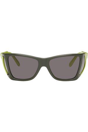 JW Anderson Men Sunglasses - Green Persol Edition Wide Frame Sunglasses