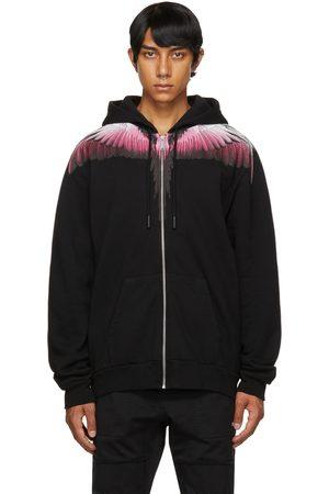 Marcelo Burlon County of Milan Black & Pink Wings Zip-Up Hoodie