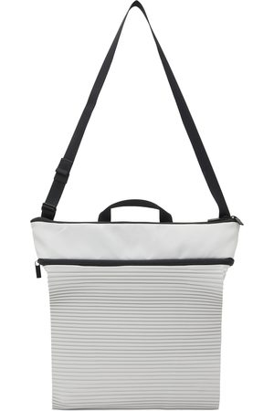 Homme Plissé Issey Miyake Men Luggage - Off-White Roll Pleats Bag