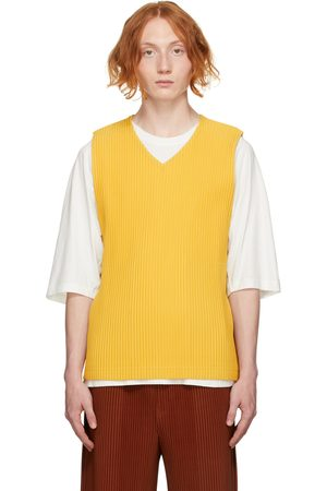 Homme Plissé Issey Miyake Men Tank Tops - Yellow Monthly Color August Tank Top