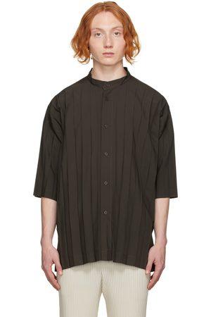 Homme Plissé Issey Miyake Grey Edge Short Sleeve Shirt