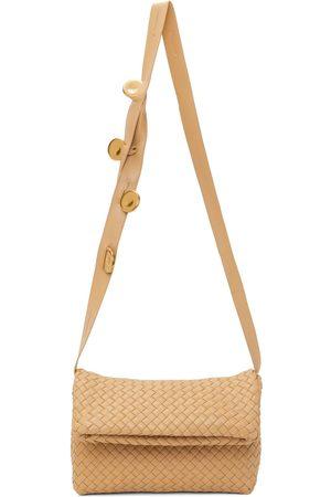 Bottega Veneta Beige Intrecciato Fold Bag
