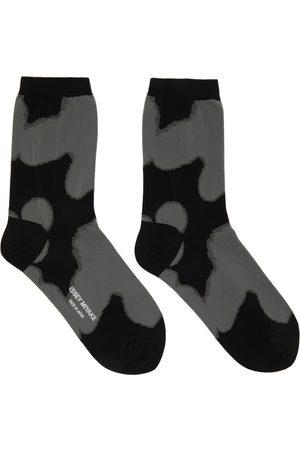 Issey Miyake Black & Grey Shade Socks