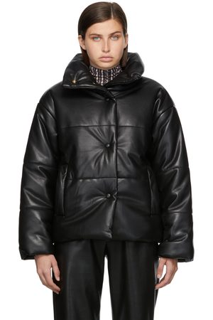 Nanushka Women Leather Jackets - Vegan Leather Hide Puffer Jacket