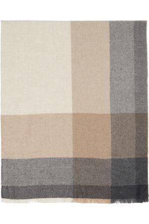 Brunello Cucinelli Brown Wool & Cashmere Scarf
