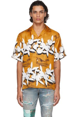 AMIRI Men Short sleeves - Playboy Edition Silk Tropical Short Sleeve Shirt
