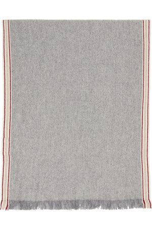 Brunello Cucinelli Grey Cashmere Scarf