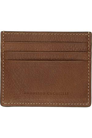 Brunello Cucinelli Men Wallets - Brown Leather Card Holder