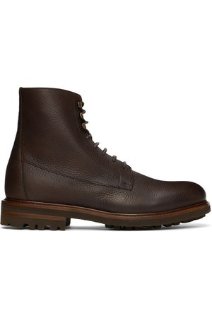 Brunello Cucinelli Brown Leather Boots