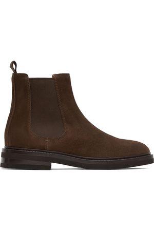 Brunello Cucinelli Men Chelsea Boots - Brown Suede Chelsea Boots