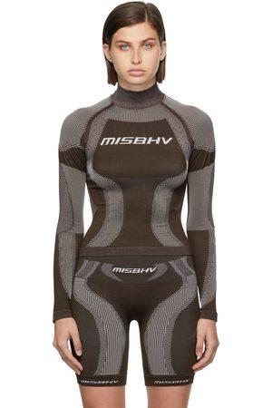 MISBHV Brown & Beige Active Classic Long Sleeve Top