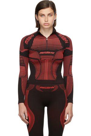 MISBHV Black & Red Active Quarter-Zip Long Sleeve Top