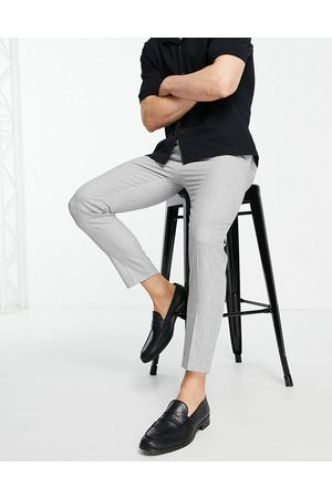 ASOS Tapered smart pants in micro texture-Grey