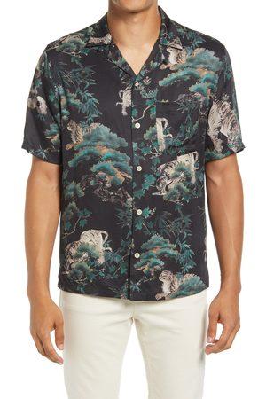 AllSaints Men's Thicket Short Sleeve Button-Up Shirt