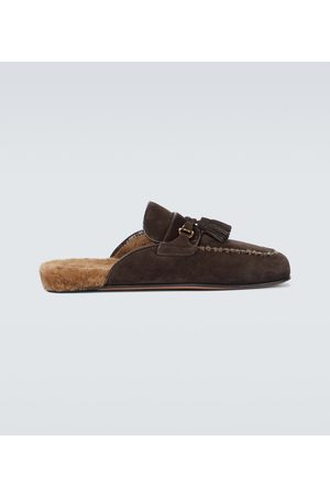 Tom Ford Men Mules - Suede and shearling mules